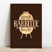 Placa Decorativa Barbecue