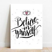 Placa Decorativa Believe In Yourself