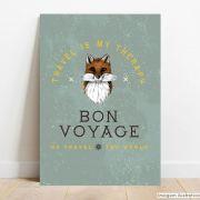 Placa Decorativa Bon Voyage
