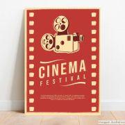 Placa Decorativa Cinema