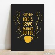 Placa Decorativa Coffee Love