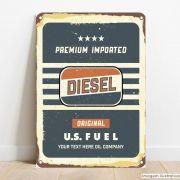 Placa Decorativa Diesel