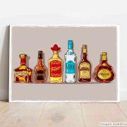 Placa Decorativa Drinks Clássicos