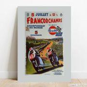 Placa Decorativa Francorchamps