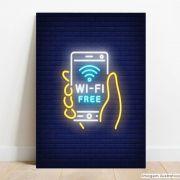 Placa Decorativa Free Wifi