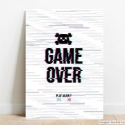 Placa Decorativa Game Over