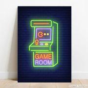 Placa Decorativa Game Room