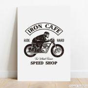 Placa Decorativa Iron Cafe
