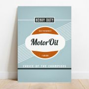 Placa Decorativa Motor Oil