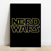 Placa Decorativa Nerd Wars