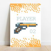 Placa Decorativa Player 2
