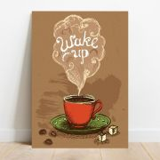 Placa Decorativa Wake Up