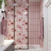 Promoção   - Adesivo Para Vidro Box Banheiro Jateado Decorado Cherry Prova D'Agua
