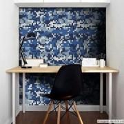 Promoção - Papel de Parede Camuflado Pixel Azul