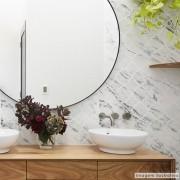 Promoção - Papel de Parede Lavavel para Banheiro Cozinha Revestimento Fosco Mármore Arabesco