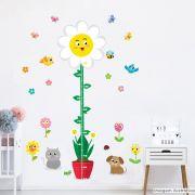 Régua de Crescimento Infantil Flores