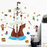 Régua de Crescimento Infantil Navio Pirata