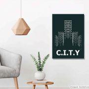 Tela Decorativa City