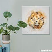 Tela Decorativa Lion