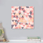 Tela Decorativa Triangulo Cristal