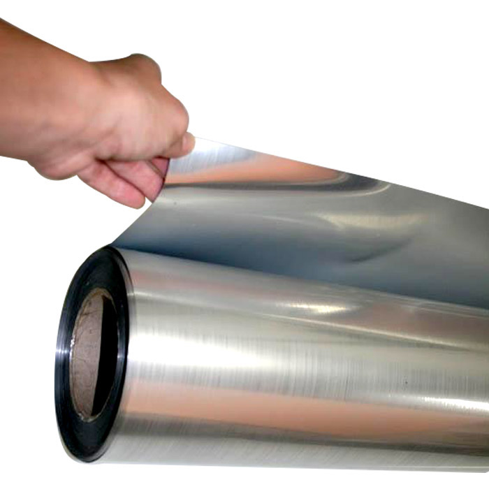 Adesivo Poliéster Prata Cromado Brilhante 1,00 x 1,00m  - TaColado