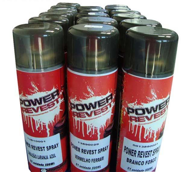 Power Revest Preto Opaco - Spray 500ml  - TaColado