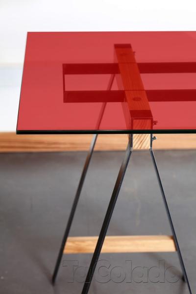 Adesivo Transparente Vermelho  - TaColado