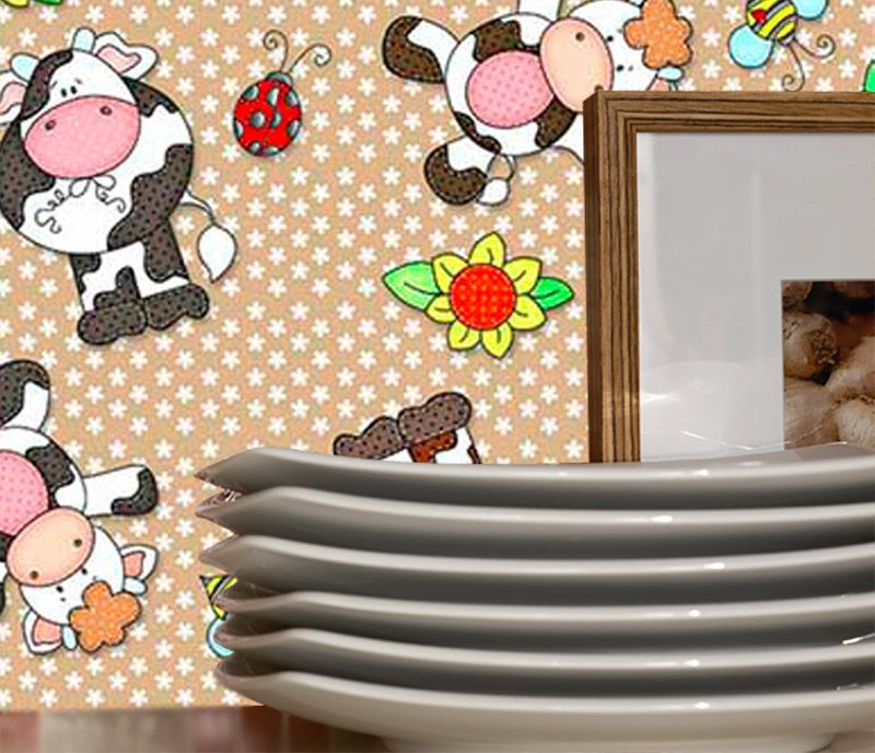 Outlet - Adesivo Decorativo Happy Cow 0,45 x 2,00m  - TaColado