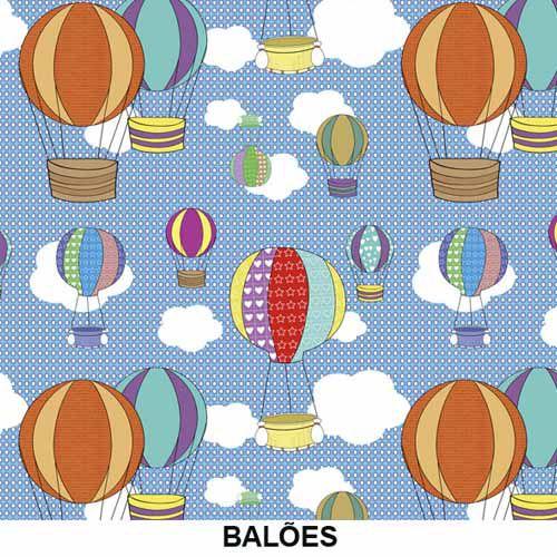 Tecido Adesivo para móveis Decorativo Balões  - TaColado