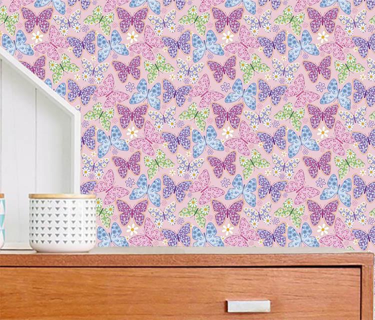 Tecido Adesivo Decorativo Butterflies  - TaColado