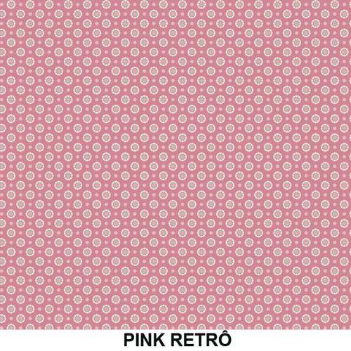 Outlet - Tecido Adesivo para móveis Decorativo Pink Retro 0,45 X 1,00m  - TaColado