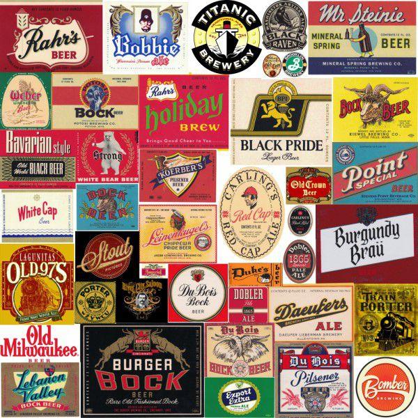 Papel de Parede Cervejas Vintage  - TaColado