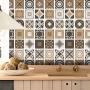 Adesivo Destacável Azulejo para Cozinha Bragança Marrom