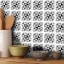 Adesivo Destacável Azulejo para Cozinha Delta Preto