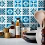 Adesivo Destacável Azulejo para Cozinha Manresa Azul