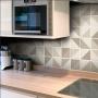 Adesivo Destacável Azulejo para Cozinha Retângulo Marrom