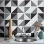 Adesivo Destacável Azulejo para Cozinha Retângulo Preto
