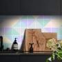 Adesivo Destacável Azulejo para Cozinha Triângulo Clear
