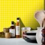 Adesivo Destacável Pastilha para Cozinha Clássica Amarelo
