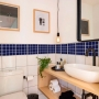 Adesivo Destacável Pastilha para Cozinha Clássica Azul Marinho