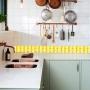 Adesivo Destacável Pastilha para Cozinha Mix Amarelo