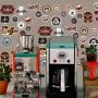 Adesivo Destacável Vintage Café