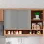 Adesivo para móveis Brilhante Cinza Escuro 1,00m
