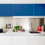 Adesivo para móveis Fosco Azul Indigo 1,00m
