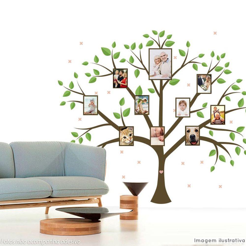 Adesivo Árvore Genealógica Color  - TaColado