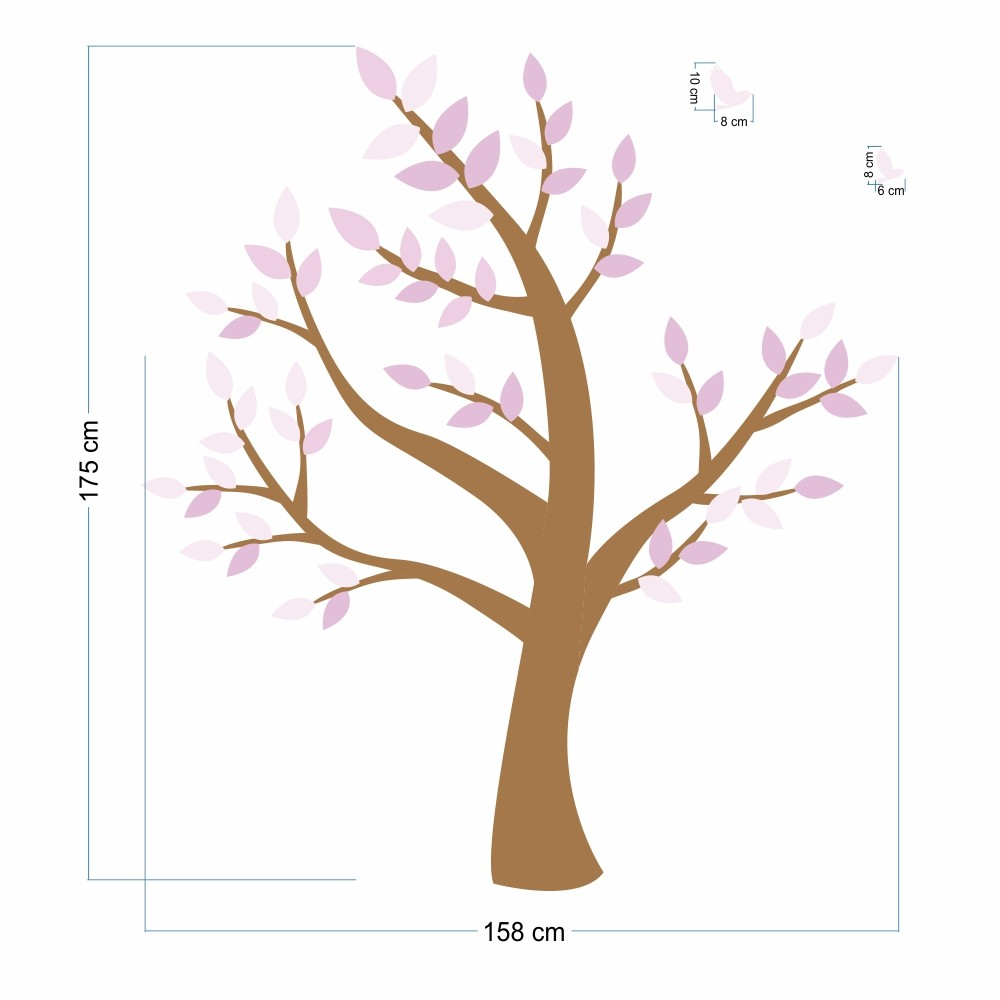 Promoção - Adesivo Árvore Magnólia 0,58 x 3,00m  - TaColado