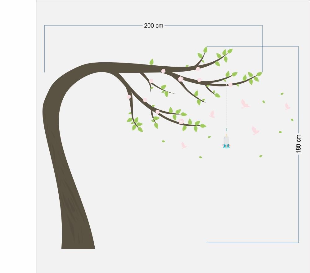 Black november - Adesivo Árvore Manacá 0,58 x 3,00m  - TaColado