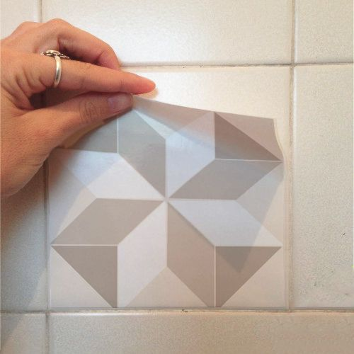 Adesivo Destacável Azulejo para Cozinha Coimbra Marrom Claro  - TaColado