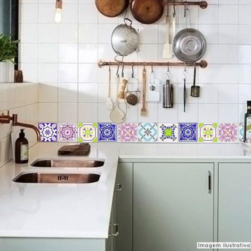 Adesivo Destacável Azulejo para Cozinha Lisboa  - TaColado
