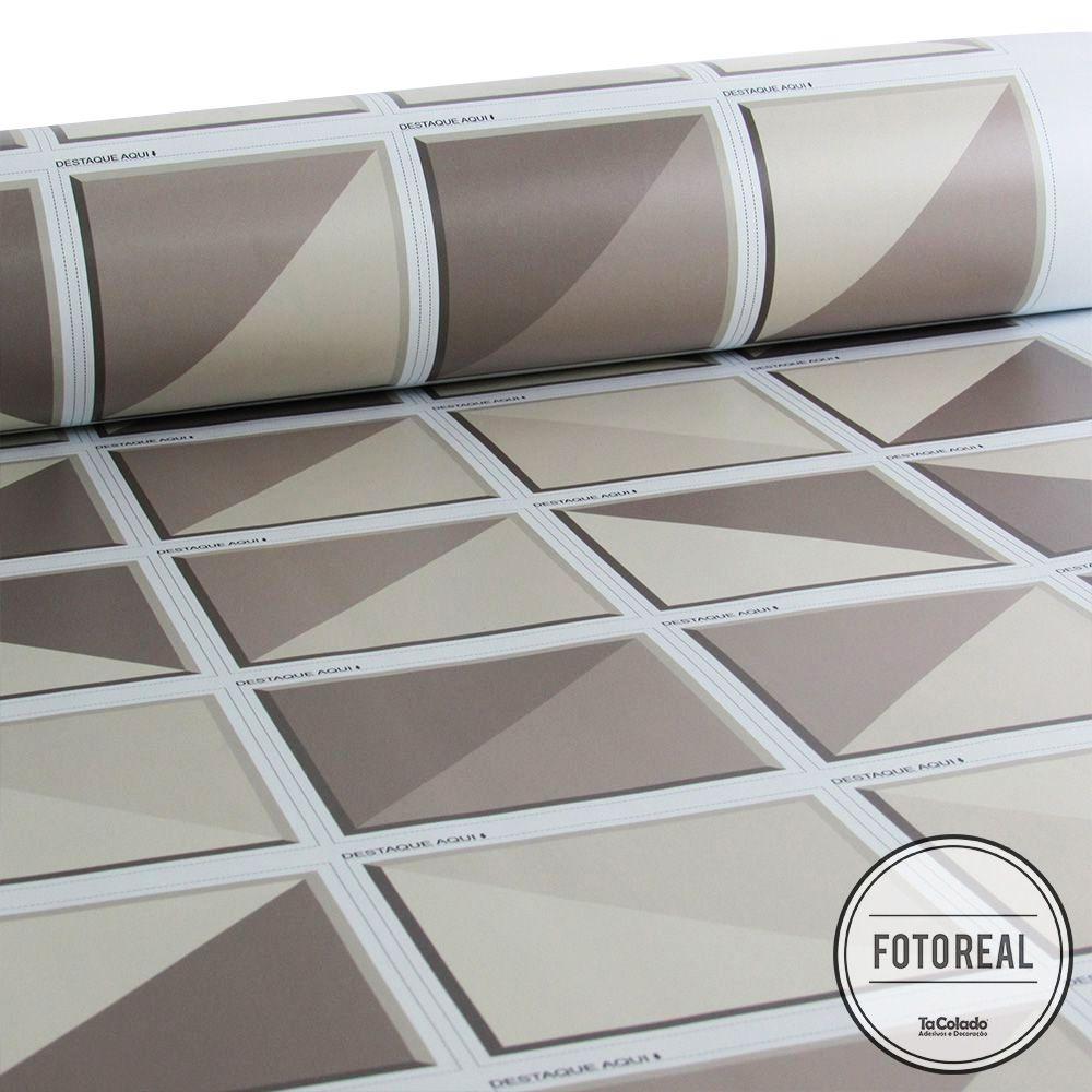 Adesivo Destacável Azulejo para Cozinha Retângulo Marrom  - TaColado